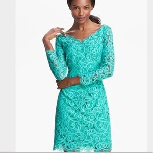 LILLY PULITZER Helene dress in Lagoon green  lace